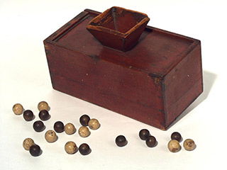 Leadhills Library ballot box