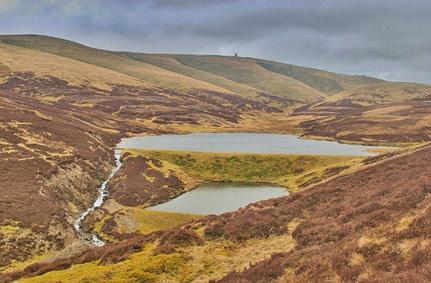 The new Leadhills Reservoir