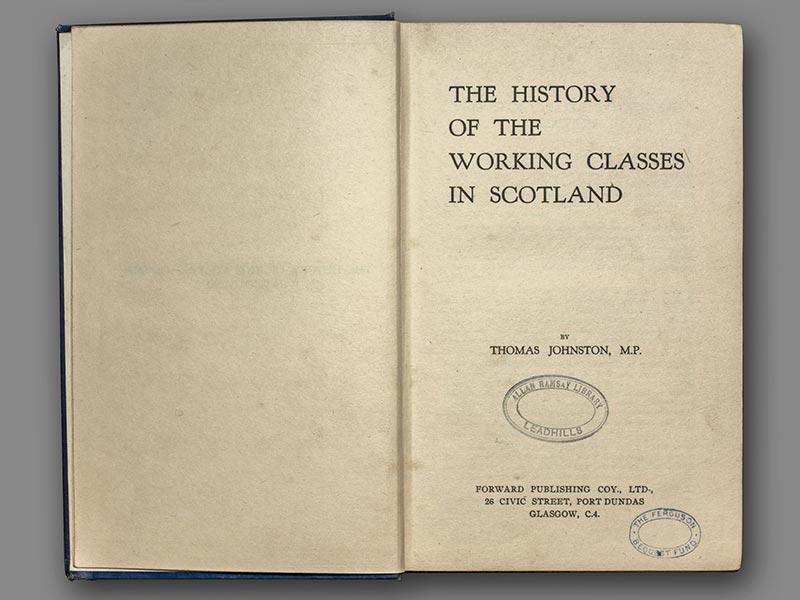 The History of the Working Classes in Scotland
