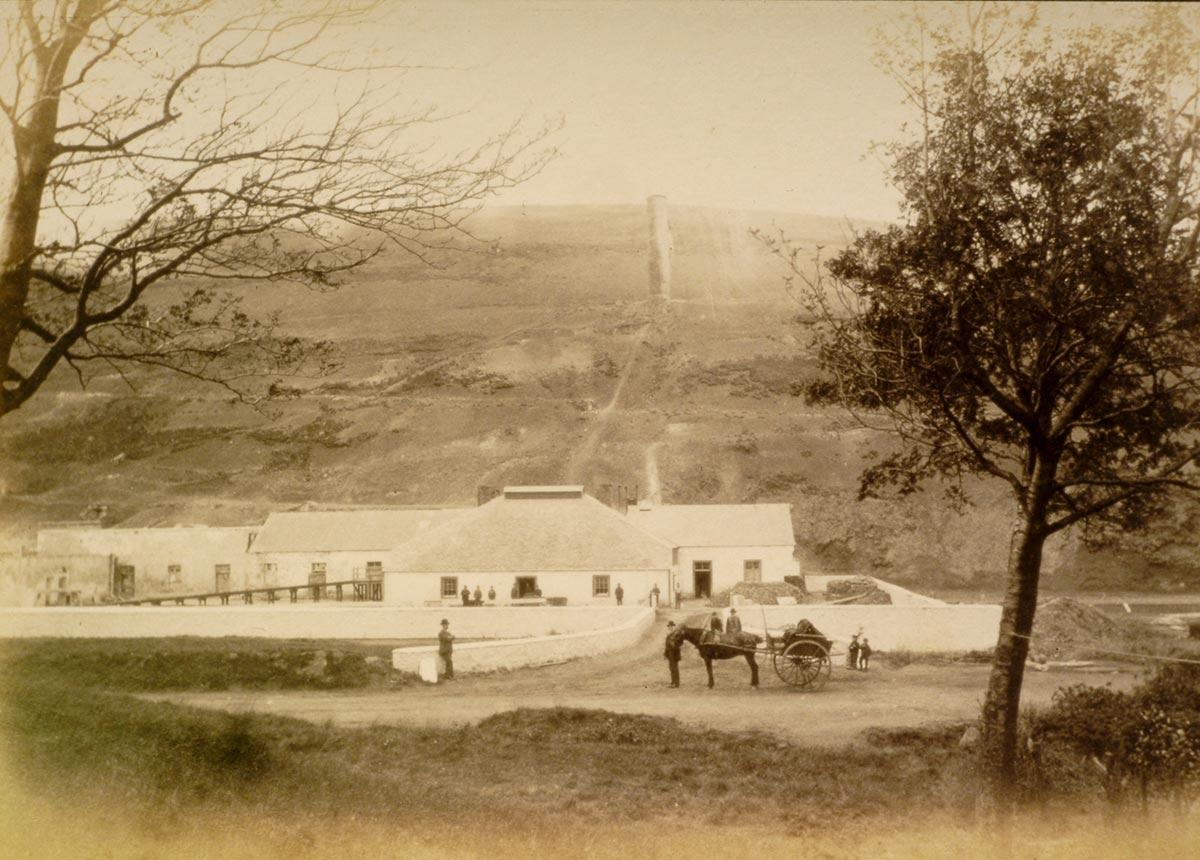 lead smelt mill at leadhills C.1880